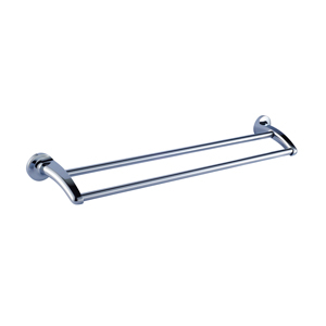 Zamac Chrome Double Towel Rail