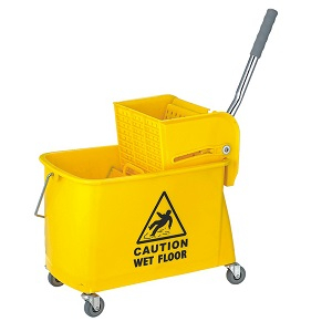 20 Liter Plastic Industrial Side Press Mop Wringer Bucket