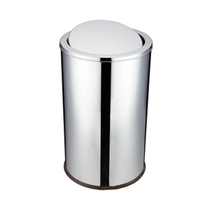 Round Swing Top Lid Trash Bin
