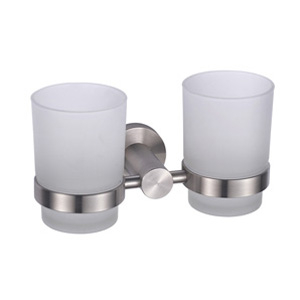 Stainless Steel Satin Double Tumbler Holder