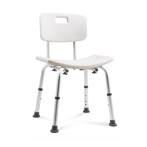 Round Shower Stool with Swivel Seat