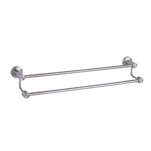 Stainless Steel Satin Double Towel Rail